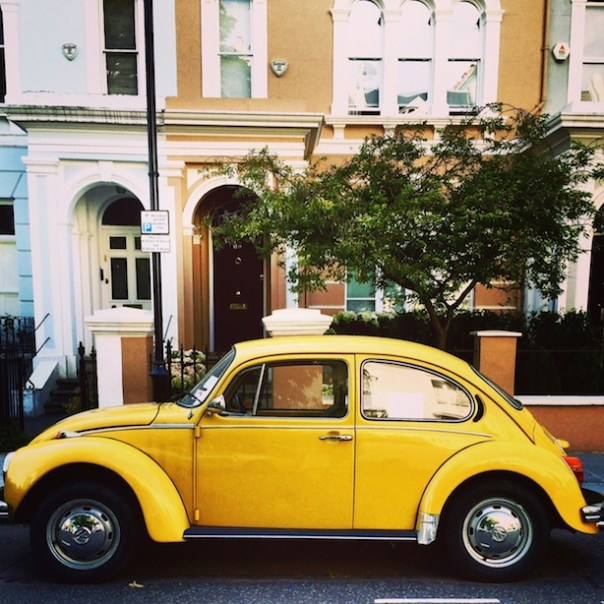 Yellow 1973 Beetle - Poppy Loves