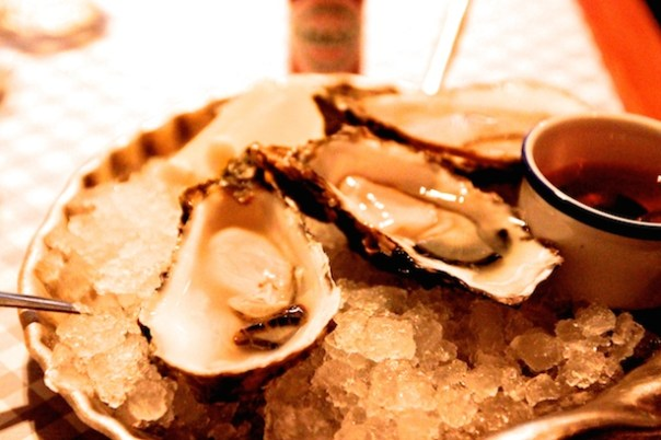 Carlingford Rock Oysters at Bonnie Seagull Seafood Cafe Exmouth Market