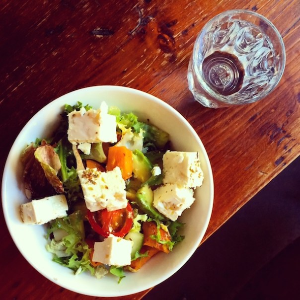 Avocado, goats cheese and sweet potato salad at Freestate Coffee