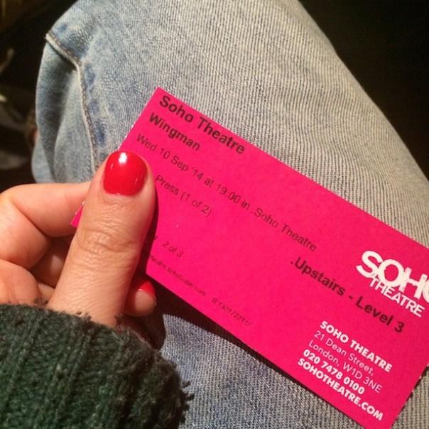 Wingman at Soho Theatre
