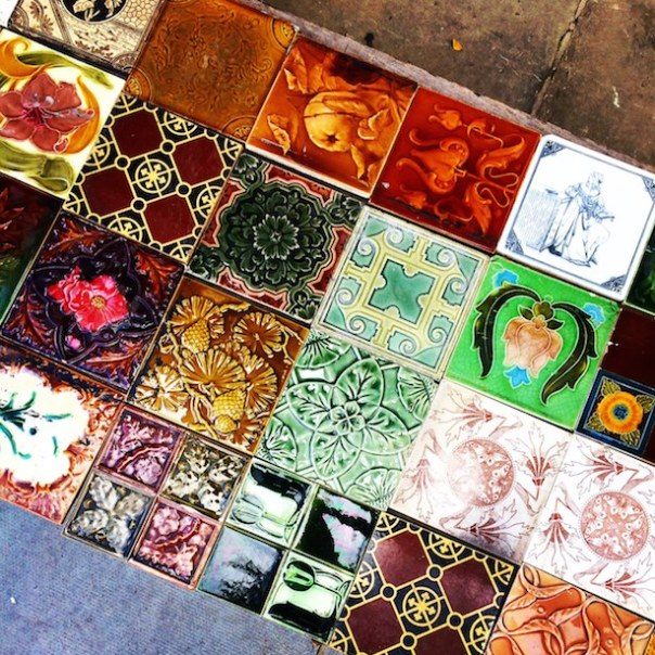 Restored vintage tiles on Golborne Road