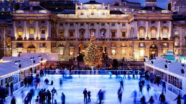 Skating at Somerset House