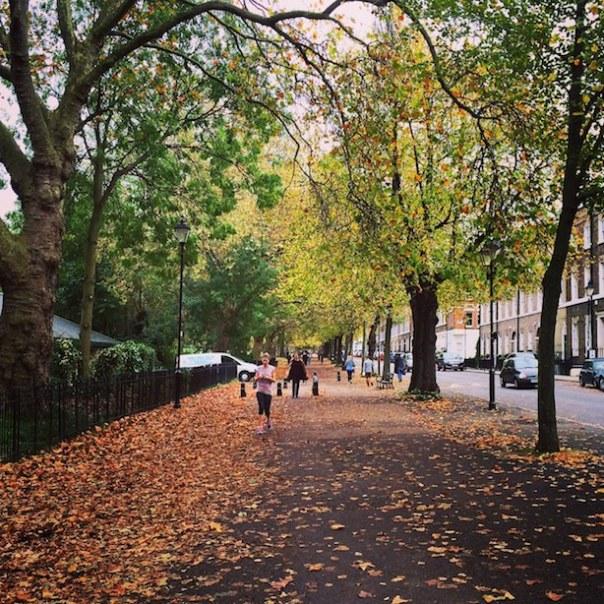 Running in Highbury Fields