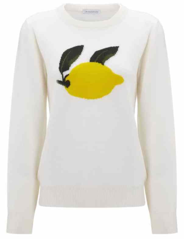 Cream Merino Wool Lemon Jumper by J.W.Anderson