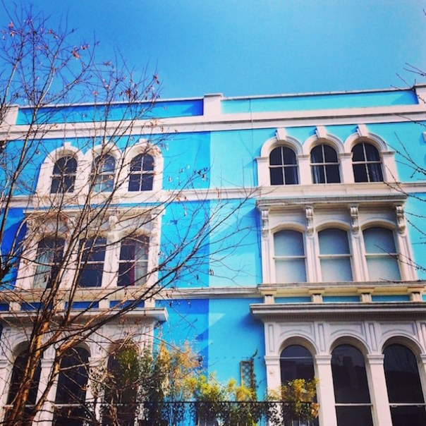 Blue houses in Notting Hill