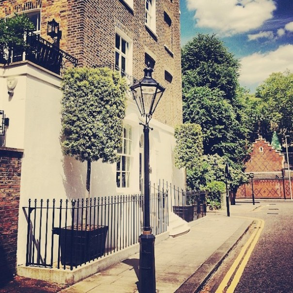 Old lamppost in Chelsea