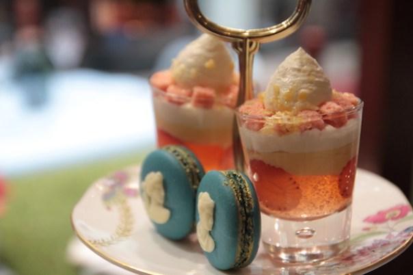 Trifle and Wedgwood macaron