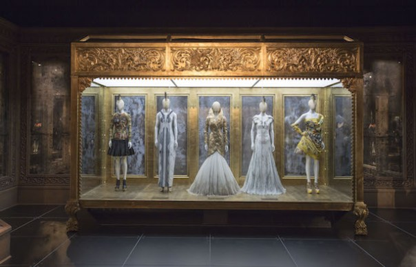 Installation-view-of-Romantic-Gothic-gallery-Alexander-McQueen-Savage-Beauty-at-the-VA-c-Victoria-and-Albert-Museum-London