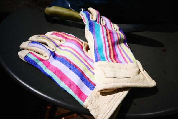 Stripy gloves