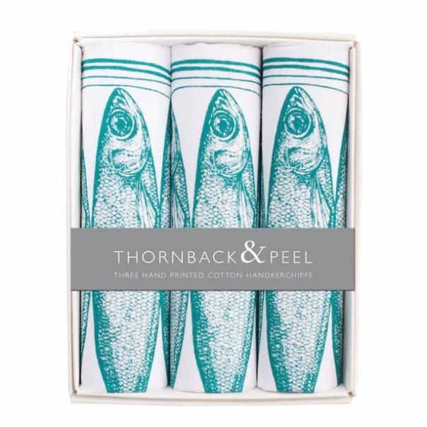 THORNBACK & PEEL Box Of Three Sardine Hankies