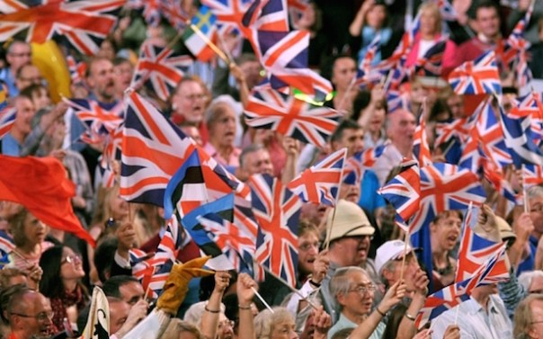 WARNING: Embargoed for publication until 23/04/2015 - Programme Name: BBC Proms 2015 - TX: n/a - Episode: n/a (No. n/a) - Picture Shows: The Last Night of the Proms at the Royal Albert Hall   - (C) BBC/Chris Christodoulou - Photographer: Chris Christodoulou