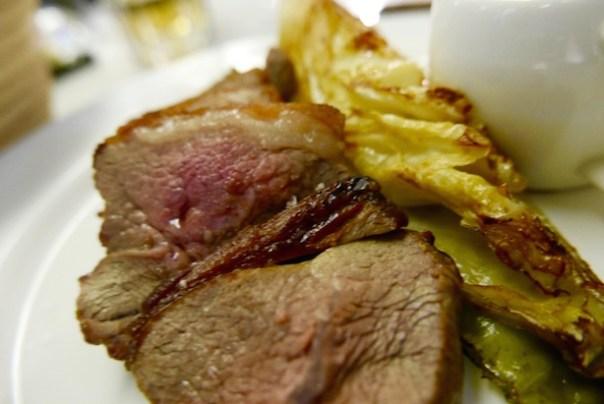 200g Salt Marsh Lamb Rump grilled pointed cabbage