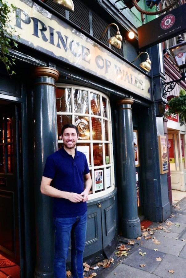 Stefano Widdrington - manager at the Prince of Wales Pub, Kensington Church Street