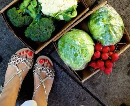 Vegetables and sandals