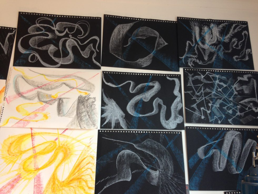 Drawings done from my synaesthesia