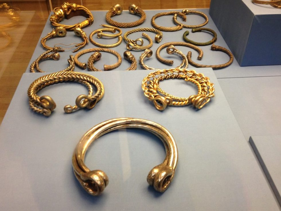 Enormous celtic torcs at the British Museum