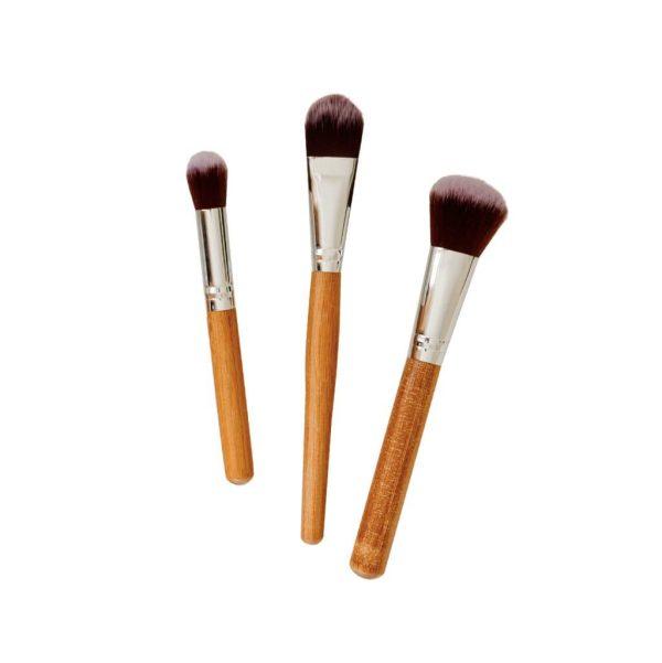 Poppy Sloane Luxury Bamboo Powder Trio Brush Set