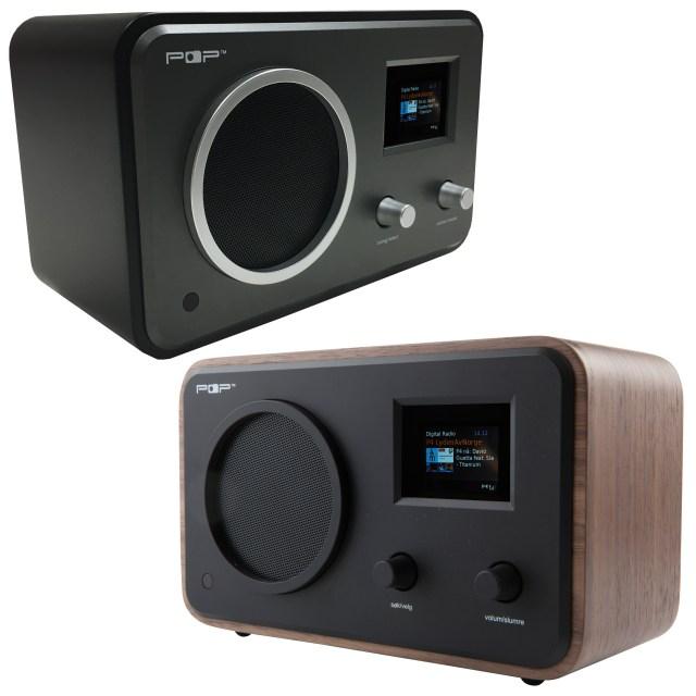 POPradio med dab+, fm, bluetooth og klokkeradio