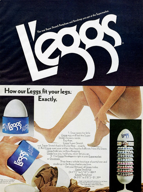 Leggs pantyhose catalog words