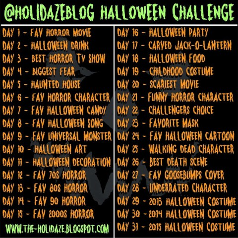 October Halloween Horror Holidaze Instagram Twitter Challenge