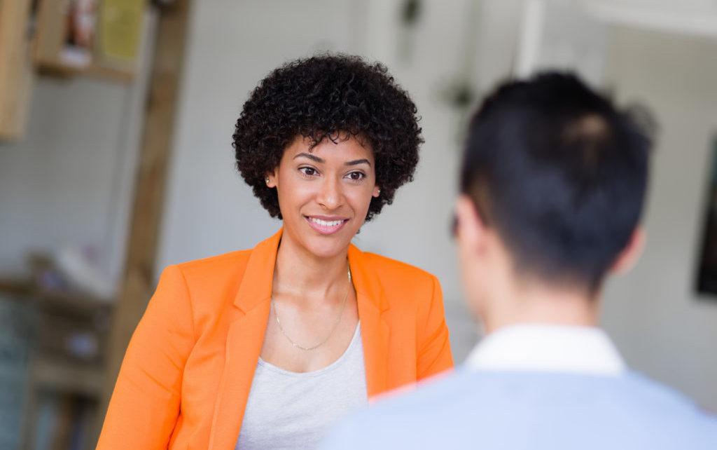 interviewer interviewing a candidate