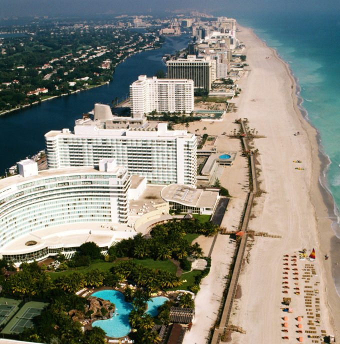 500 foot view of miami beach hotel