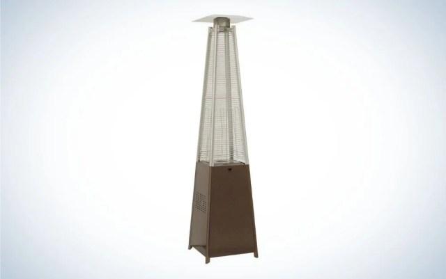 Brown, pyramid style patio heater
