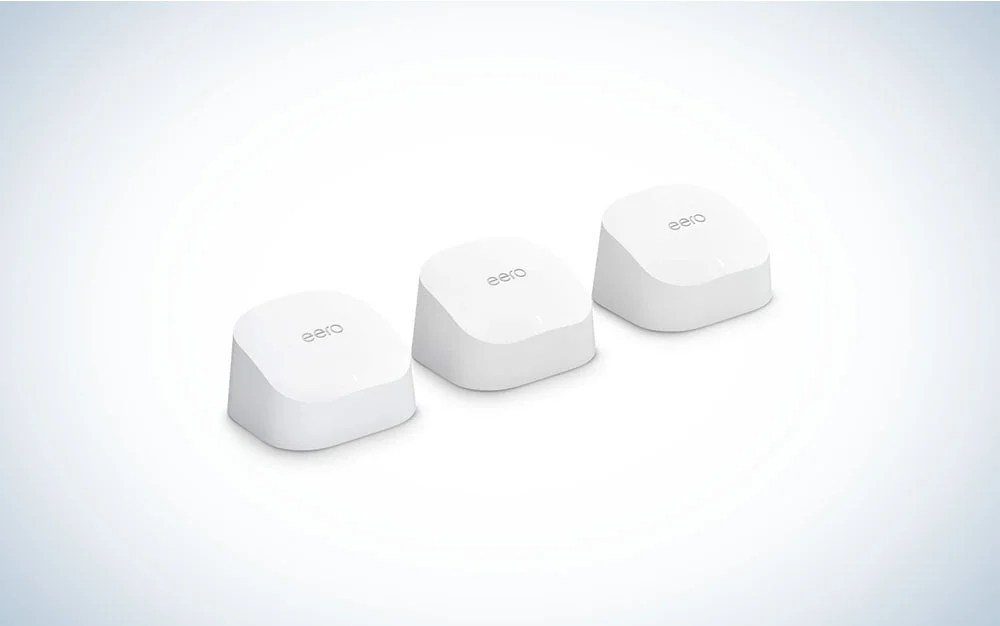 The Amazon eero 6 WiFi system is the best Amazon Prime Day Preview WiFi system on our guide.