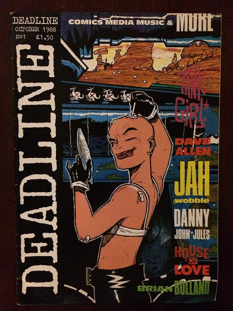 Deadline Magazine #1 plus Deadline promo folder - rare! Jamie ...