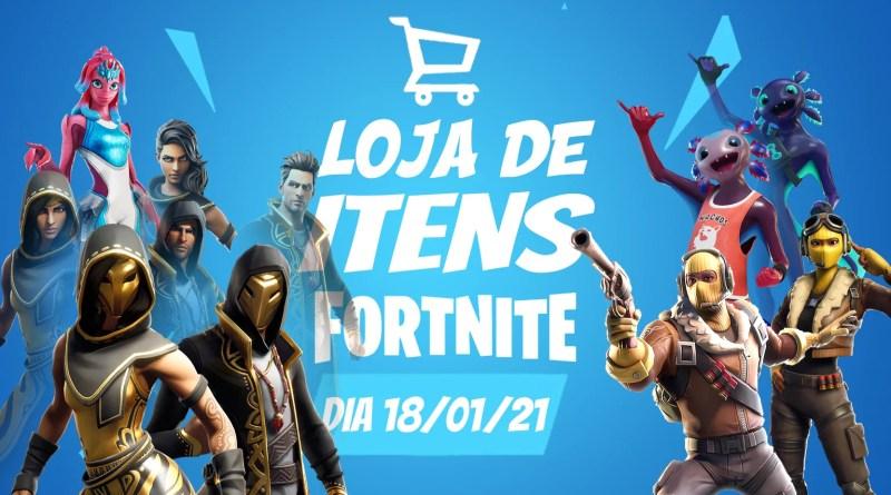 Fortnite – Loja de itens do dia 18/01/21