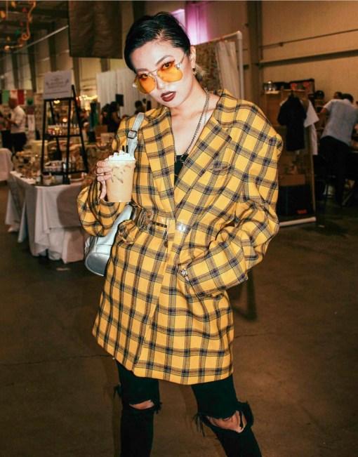 fashion street style at pop shop houston art festival