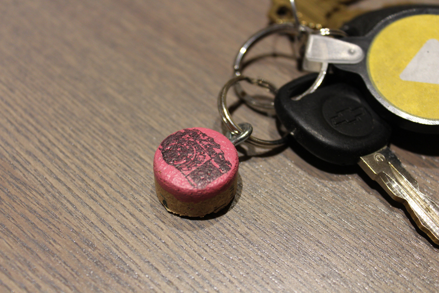 How to Make a Keychain   Cork Stamped Keychains   DIY Instructions from the Pop Shop America Blog