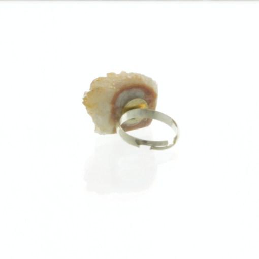 Citrine Geode Ring 2 | Raw Gemstone Jewelry | Sterling Silver Citrine Ring