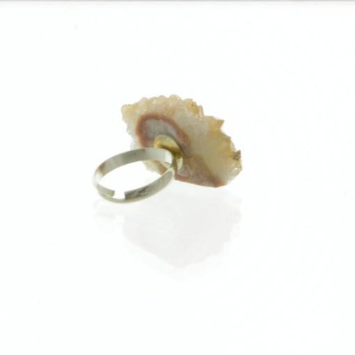 Citrine Geode Ring 3 | Raw Gemstone Jewelry Shop Online