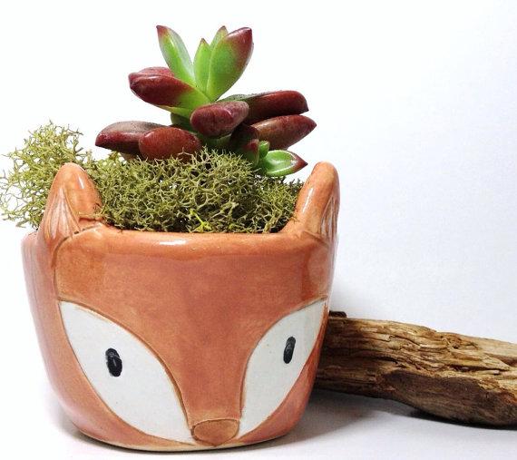 Fox Planter Handmade Ceramics | Cute Terrariums | Handmade Ceramics | Made in the USA