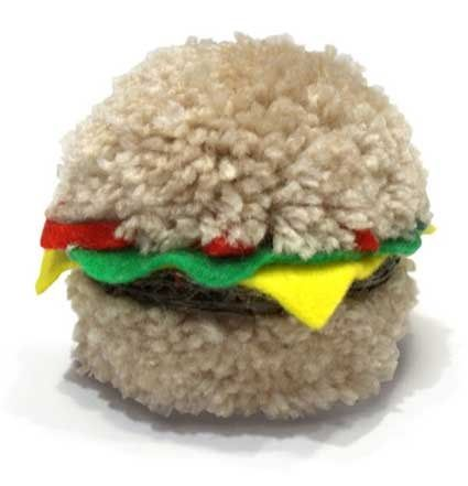 Pom Pom Burger DIY | How to Make A Pom Pom Burger with Yarn
