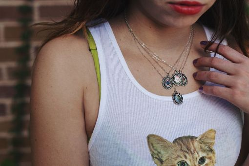 Kitten Necklaces and Kitten Tank Tops by Potions | Shop Handmade Jewelry at Pop Shop America