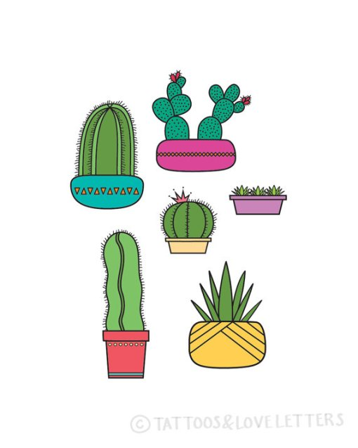 Succulents & Cactus Print | Handmade Prints and Art | Made in Texas Shop at Pop Shop America Online