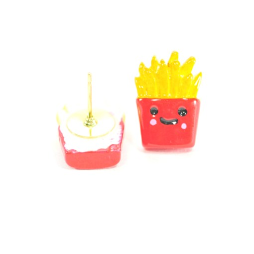 Kawaii Style Jewelry - French Fry Stud Earrings