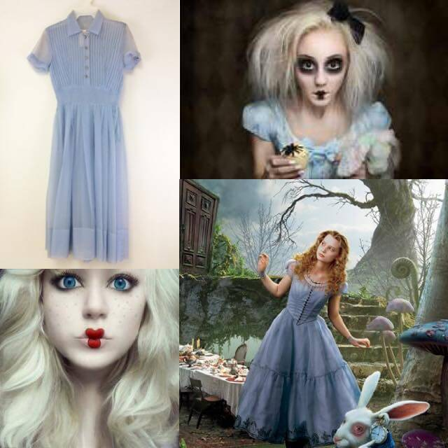 how to turn vintage into halloween costumes alice in wonderland