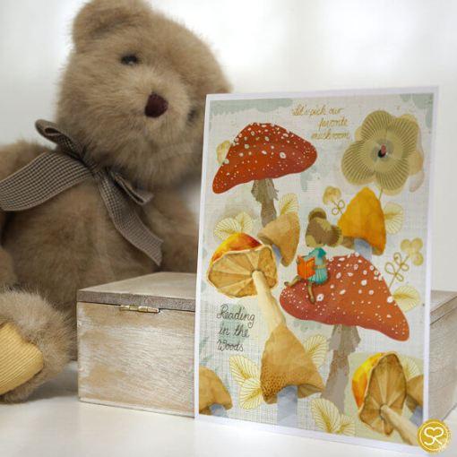 mushroom and mouse kids art print | Children's Art Print | Shop Modern Arts and Crafts at Pop Shop America