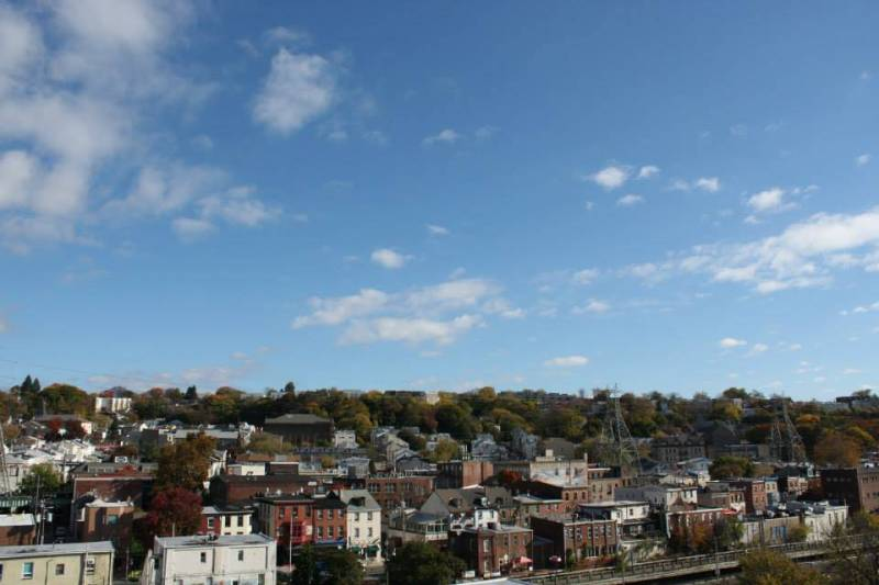 View Overlooking Manayunk   Manayunk Shopping District Philadelphia PA   Handmade and Vintage Shopping Manayunk