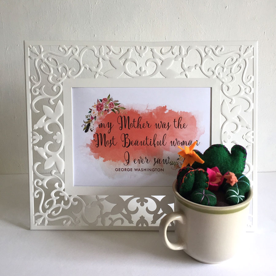 Printable Mother's Day Watercolor + Quote