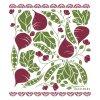 illustration for beets and peas tea towel pop shop america handmade modern