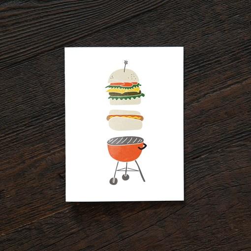 summer grill greeting card pop shop america