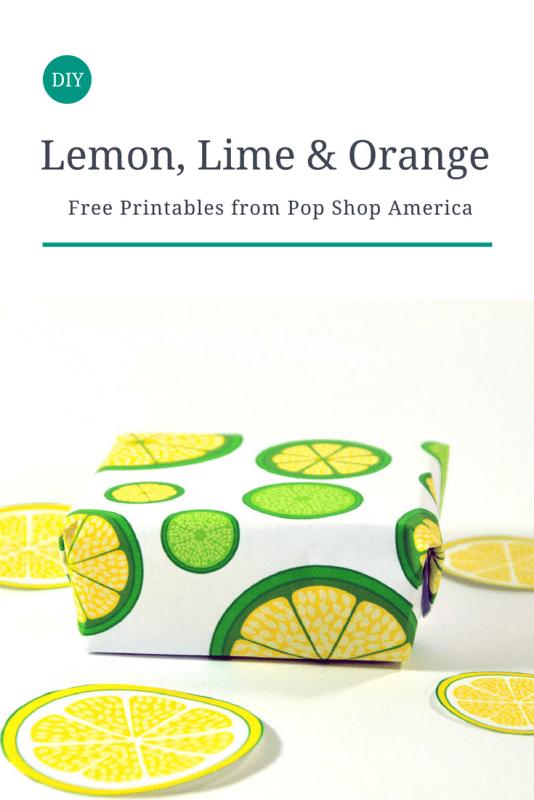 DIY lemon lime orange printables