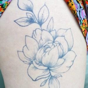 Temporary Tattoos - Peony Temporary Tattoo by Hand DIY Tutorials at Pop Shop America