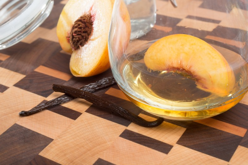 the impeachment cocktail recipe with vanilla bean infused whiskey and peach