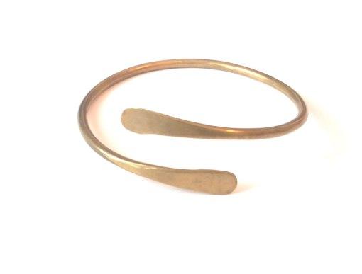 hero-brass-spiral-bracelet-hand-hammered-bangle