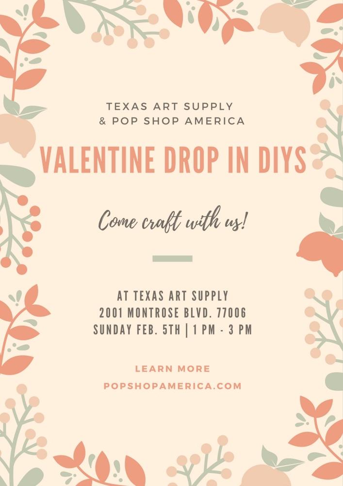 valentine's diys with pop shop america and texas art supply